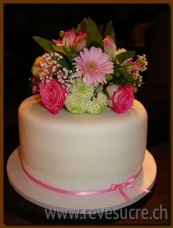 Gâteau Anniversaire Fleurs naturelles